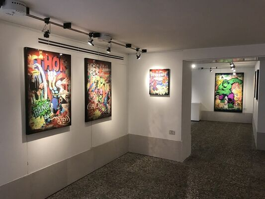 "Alessio-B - ""Pop Heroes"", installation view"