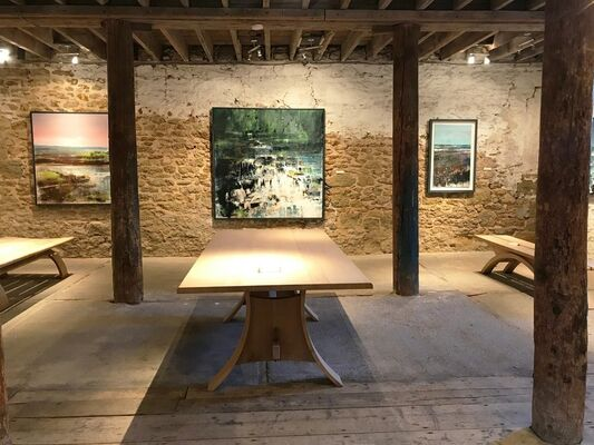 Ways of Seeing Landscape: paintings by Martyn Brewster, Anne Davies, Jo Fox & Anthony Garratt with Petter Southall furniture, installation view