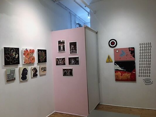 """""""Real Concerns/Imaginary Perceptions"""" Viridian Affiliates, installation view"""