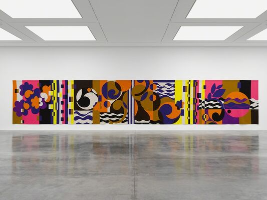 Beatriz Milhazes: Rio Azul, installation view