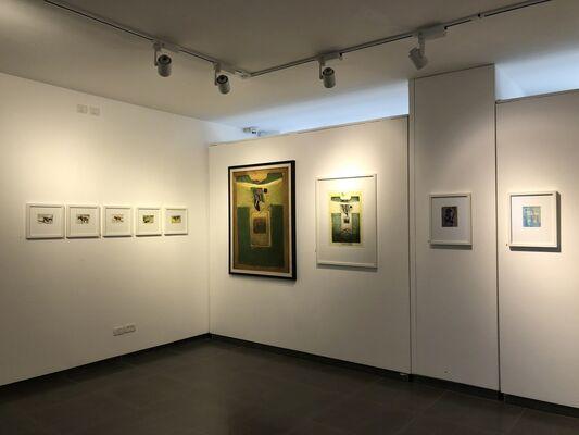 Retrospective  exhibition by Samir Salameh, installation view