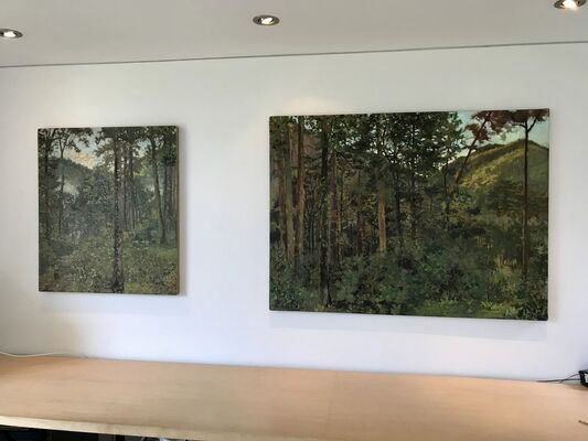 Lincoln Perry: Places in Time. & Kathryn Keller: Interiors and Landscapes, installation view