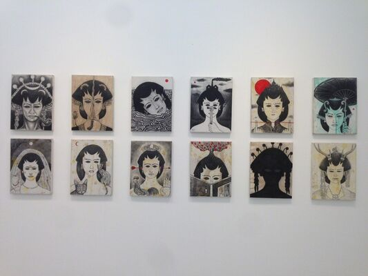 """Mohamad 'Ucup' Yusuf  """"Catching Javanese Eyes"""", installation view"""