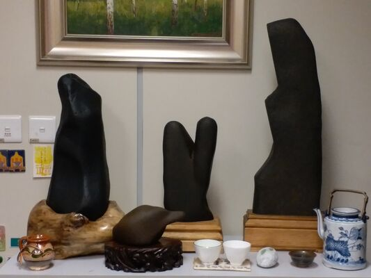 Meditate With A Stone, installation view