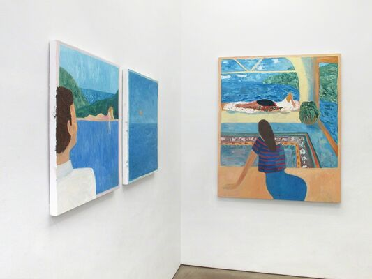 """Stills from """"The End of Summer"""", installation view"""