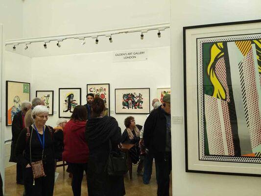 Gilden's Art Gallery at London Original Print Fair 2020, installation view