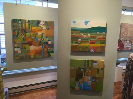 Complicated Perspectives featuring Michael Palmer & John Angelopoulos, installation view