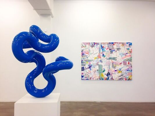 Summer Group Show + Flats Block Party, installation view