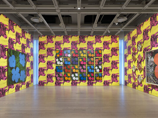 Andy Warhol: From A to B and Back Again, installation view