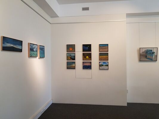 New works exhibition by Jon Challen, Ken Wadrop and Jane Martin, installation view