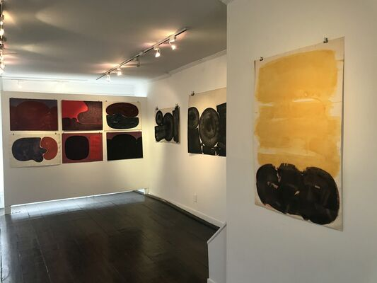 EARLY INK ABSTRACTIONS: DAVID SLIVKA, WORKS ON PAPER, 1962-72, installation view