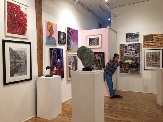 50 Years of Viridian Artists, installation view