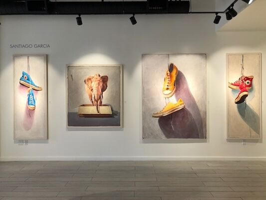 Paintings by Santiago Garcia, installation view