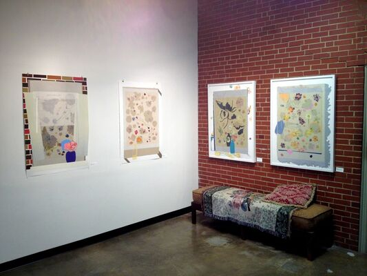 Mel Cook: Recent Monotypes, installation view