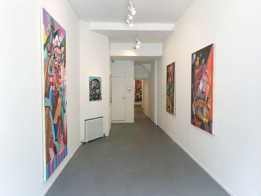 """Peter Schenck, """"Comedy Cellar"""", installation view"""