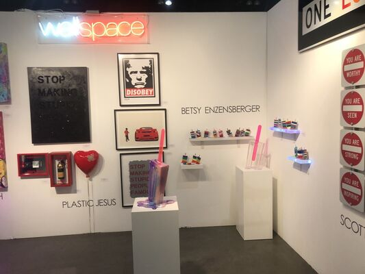 Wallspace at LA Art Show 2020, installation view