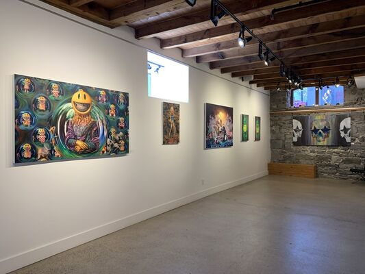 Ron English: Universal Grin, installation view