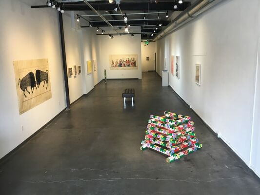 Plotting Coordinates for the Underground West, installation view
