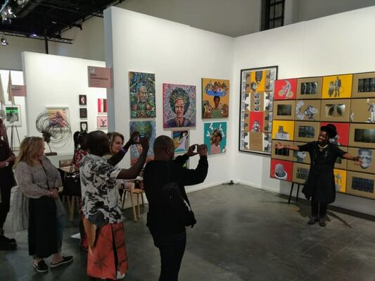 Yebo Art Gallery at FNB Art Joburg 2019, installation view