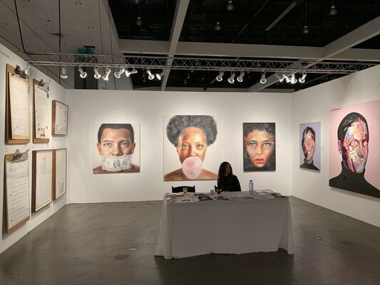 Art Unified Gallery at LA Art Show 2020, installation view