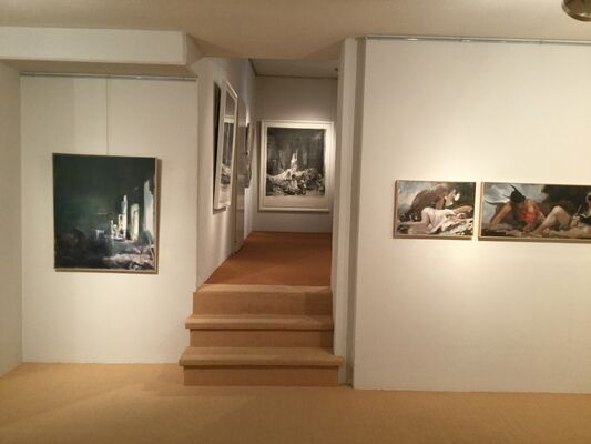 Simon Edmondson, paintings and works on paper, installation view