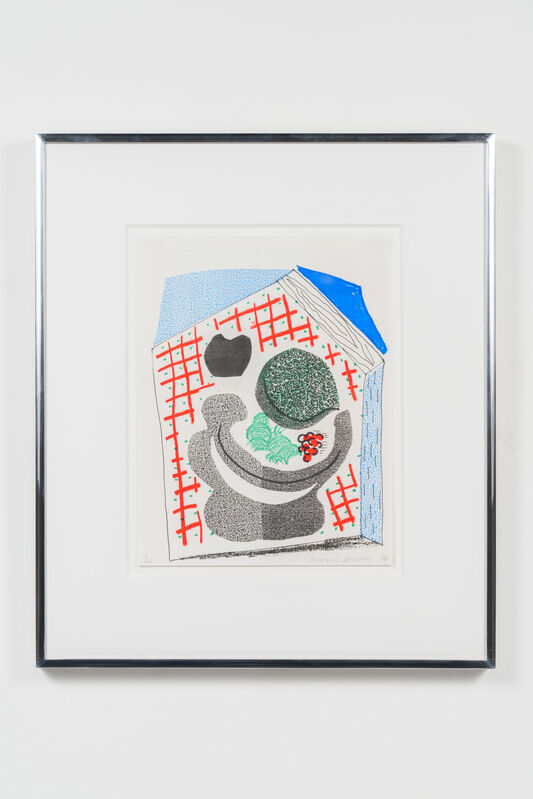 David Hockney, 'Bowl of Fruit, April 1986', 1986, Print, Homemade print executed on an office color copy machine, Leslie Sacks Gallery