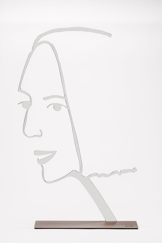 Alex Katz, 'Ada 2 (Outline) 24-Inch', 2019, Sculpture, Polished aluminum mounted to bronze base, Haw Contemporary