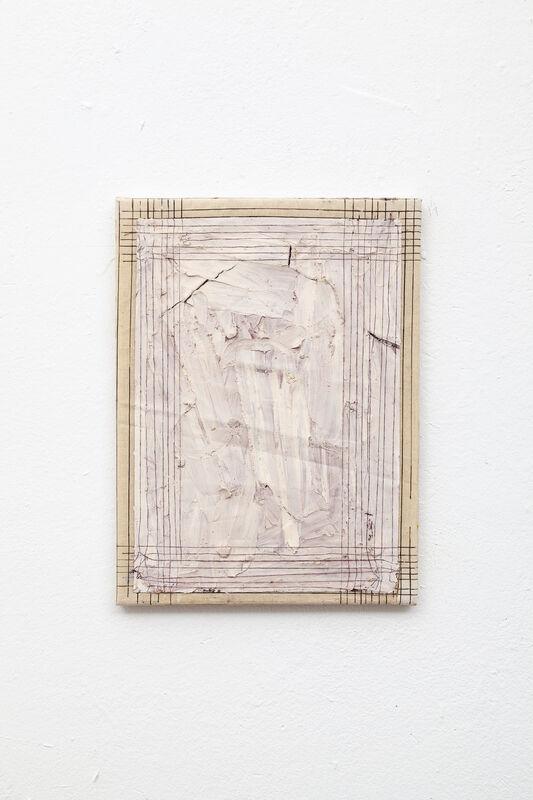 Daniel Hoerner, 'Leak 11', 2017-2020, Painting, Wax,Vaseline,Pigment,Ballpoint,Thread on Linen, Blink Art Group