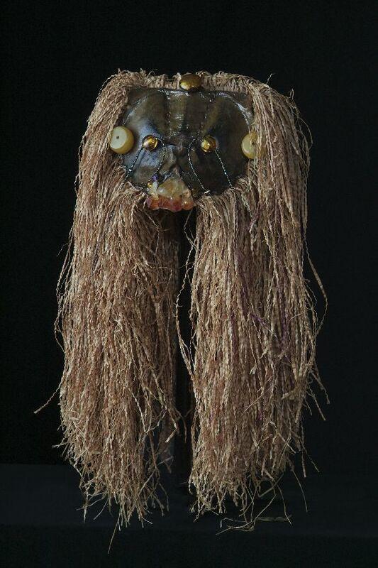 Anne Bouie, 'Assemblage Series: The Lion King', 2006, Sculpture, Raffia, Horseshoe Crab, Semi-Precious Stones, Venetian Glass, Citrine, Amber, Zenith Gallery