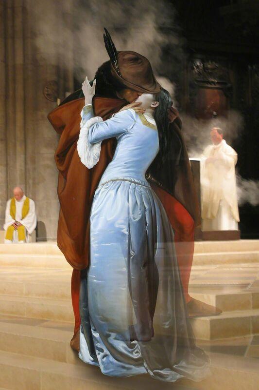 Joonsung Bae, 'The Costume of Painter - F. Hayez Kiss 3D', 2015, Photography, Lenticular, Albemarle Gallery