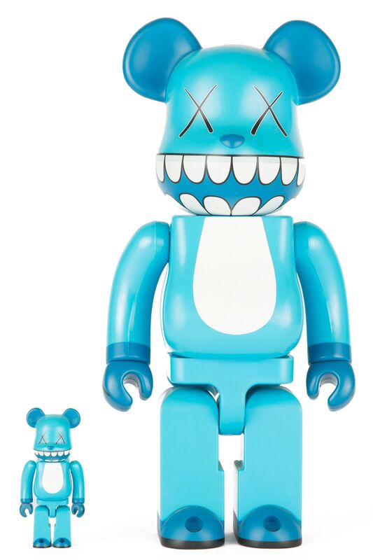 KAWS, 'CHOMPERS BE@RBRICK 400% AND 100% (SET OF TWO)', 2003, Sculpture, Plastic, Marcel Katz Art