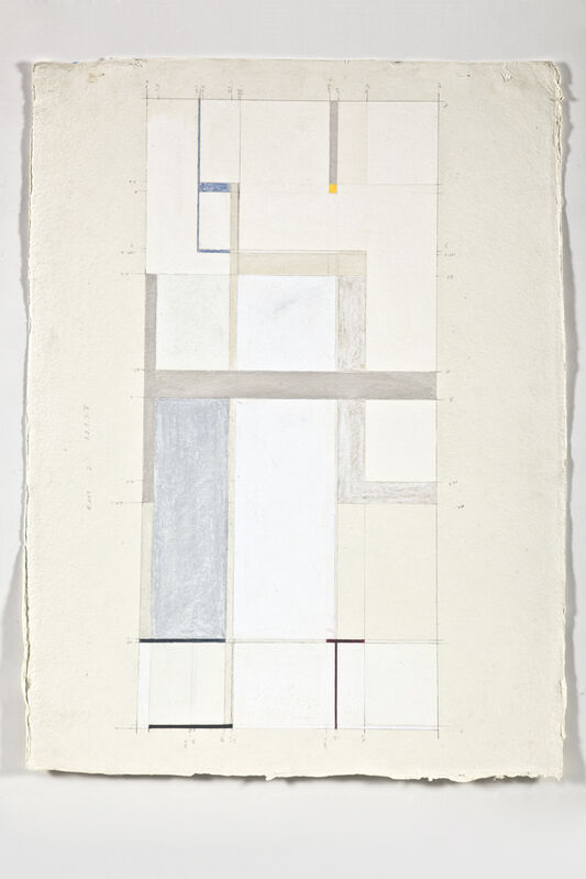 Joan Waltemath, 'interwoven', 2011, Drawing, Collage or other Work on Paper, Pencil, colored pencil, conté crayon, egg tempera, gouache, casein, and oil pastels on 640 gsm Khadi paper, C. Grimaldis Gallery