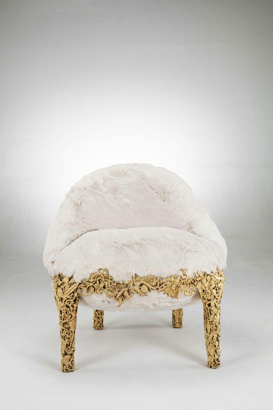 Humberto and Fernando Campana, 'Rococò', 2012, Design/Decorative Art, Gilded bronze, eco fur, David Gill Gallery
