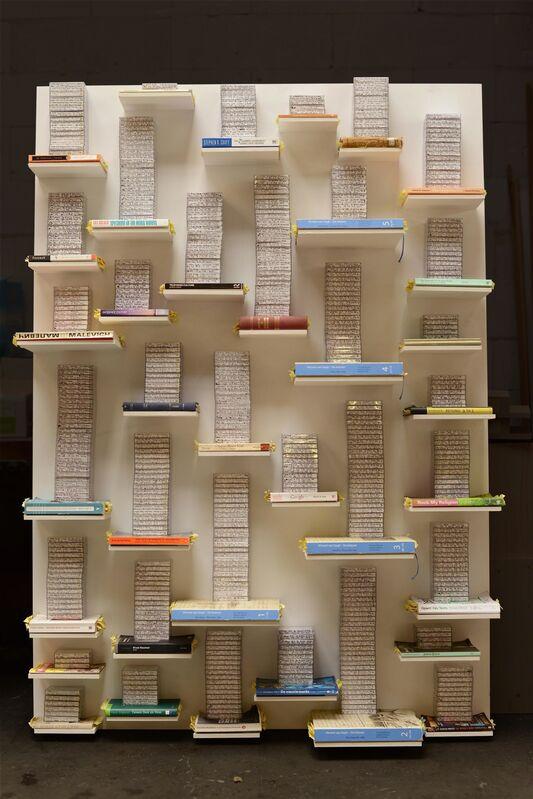 Job Koelewijn, 'Relief', 2012-2014, Installation, Books and tapes, Van Gogh Museum