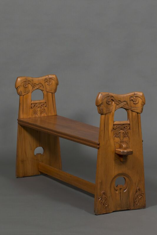 Johan Borgersen, 'Bench', 1900, Design/Decorative Art, Carved wood, Franck Laigneau