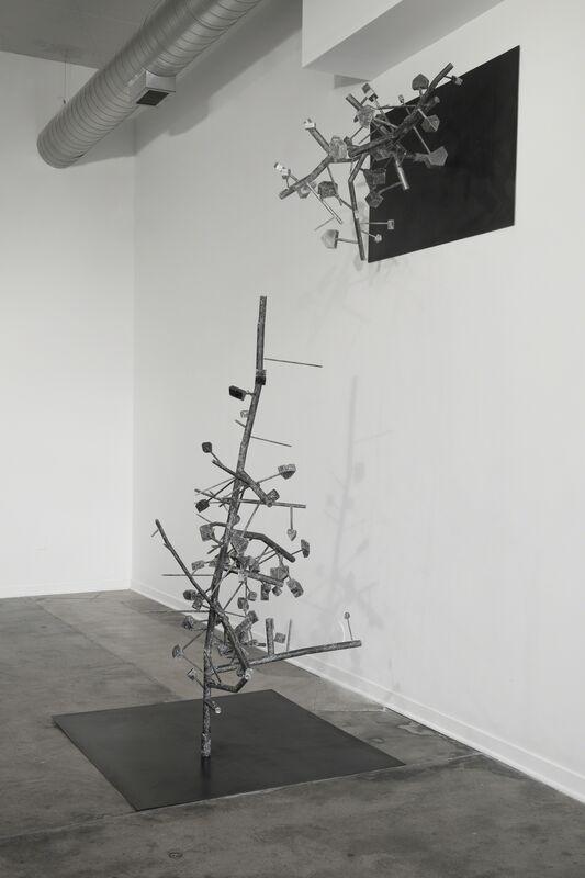 Iris Eichenberg, '#2', 2017, Sculpture, Steel, wood, graphite, Simone DeSousa Gallery