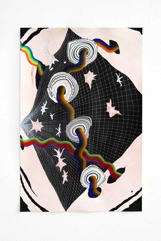 Simone Albers, 'Fabric of Reality 4', 2019, Drawing, Collage or other Work on Paper, Gouache, acrylic paint and graphite on paper (Fabriano Artistico 300grs 100% cotton), O-68