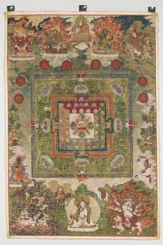 'Medicine Buddha Mandala', 18th century, Painting, Pigments on cloth, Rubin Museum of Art