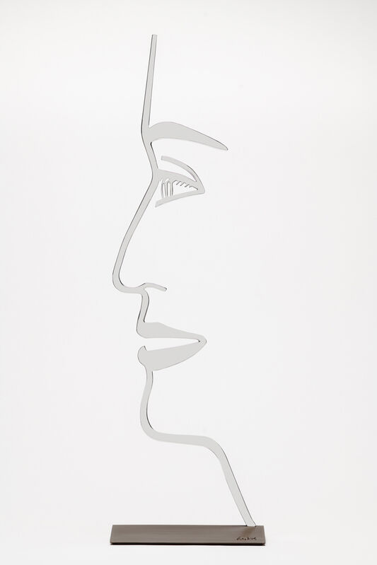 Alex Katz, 'Ada 1 (Outline) 24-Inch', 2018, Sculpture, Polished aluminum mounted to bronze base, Haw Contemporary