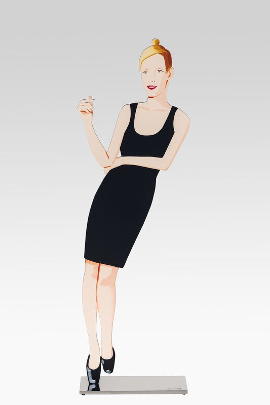 Alex Katz, 'Black Dress', 2018, Sculpture, Cutouts from shaped powder-coated aluminum, printed the same on each side with UV - cured archival inks, clear coated, and mounted to polished stainless steel base, Corridor Contemporary