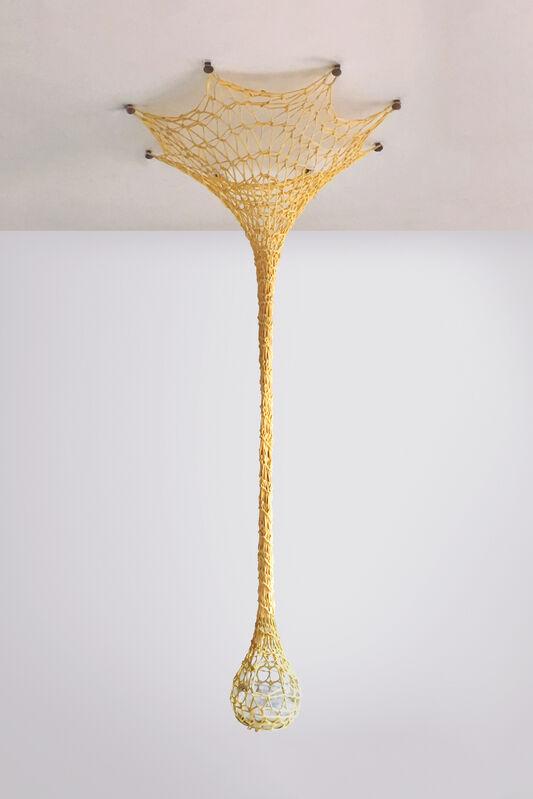 Ernesto Neto, 'Rezo luz   Pray Light', 2017, Sculpture, Cotton mesh crochet, coarse salt, candle, glass and wooden knobs, Fortes D'Aloia & Gabriel