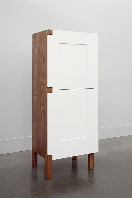 Roy McMakin, 'A One Door Two Door Cabinet', 2014, Design/Decorative Art, Oiled elm and painted maple, Domestic Furniture