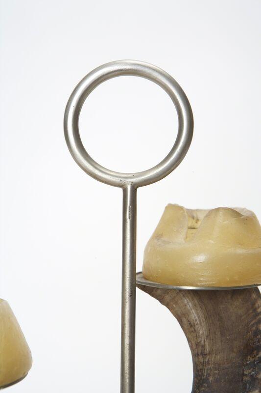 Carl Auböck, 'Candle Holder', 1950s, Design/Decorative Art, Mouflon horn, nickeled steel, Patrick Parrish Gallery