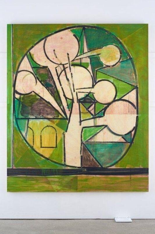 Matthew Burrows, 'Green Tree', 2015, Painting, Oil on board, Vigo Gallery