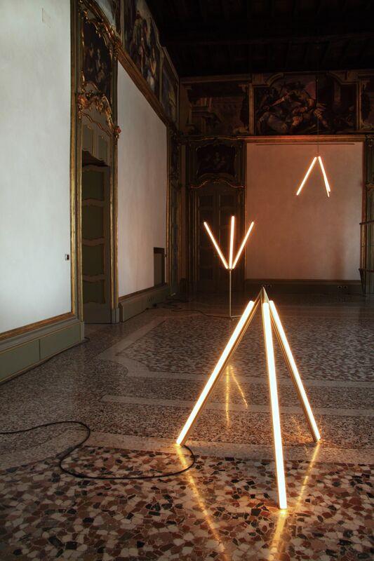 Michael Anastassiades, 'Lit Lines, Floor Light 4', 2011, Design/Decorative Art, Satin or patinated brass, Nilufar Gallery