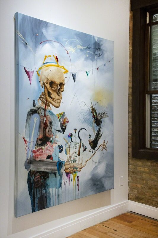 Collin van der Sluijs, 'The last party', 2018, Painting, Acrylics, ink and spray paint on canvas, Vertical Gallery