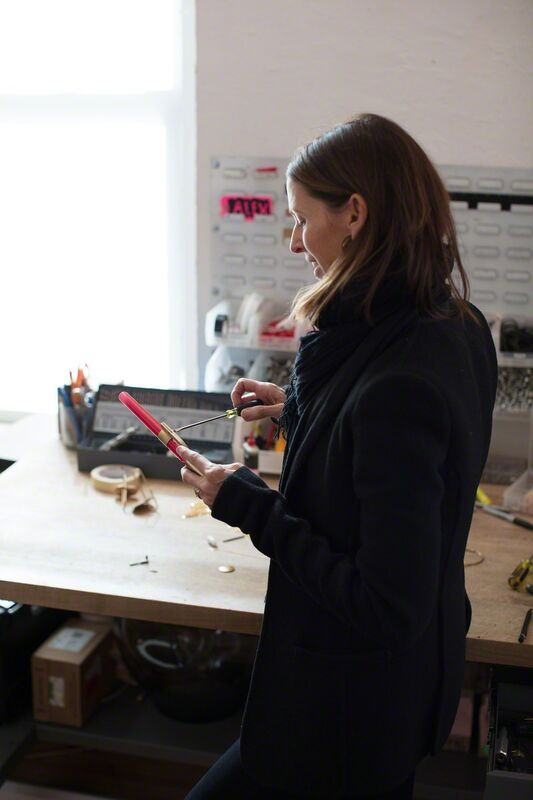 Lindsey Adelman, 'Ceres Sconce J', Design/Decorative Art, Polished brass, walnut, red glass, Lindsey Adelman Benefit Auction