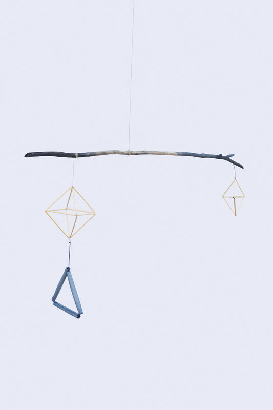 Amanda Millet-Sorsa, 'Blue Moment', 2020, Sculpture, Natural indigo dyed paper, tree branch, and hemp string and rye straw, SHIM Art Network