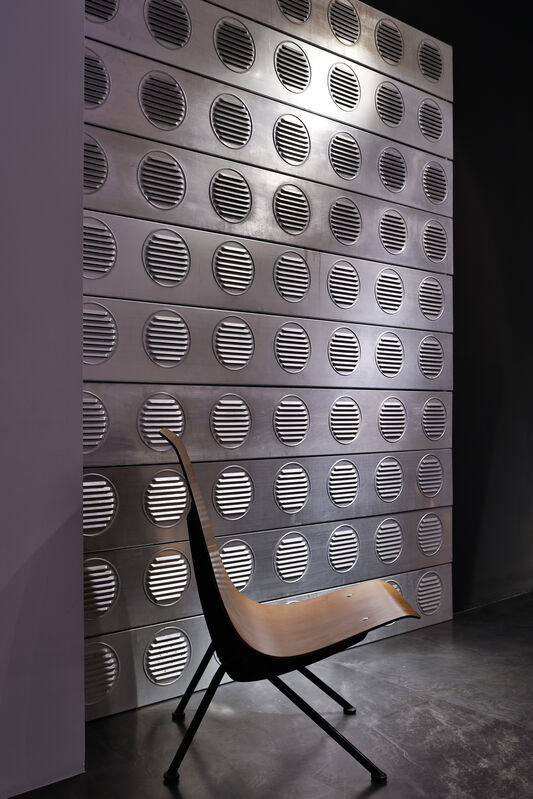 Jean Prouvé, ''Antony' chair', 1954, Design/Decorative Art, Black lacquered bent steel frame supporting a plywood steat, Galerie Downtown - François Laffanour