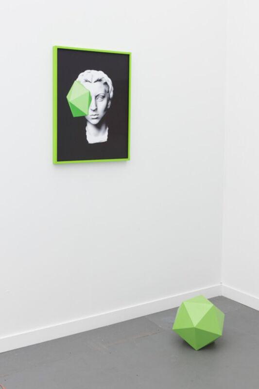 Julieta Aranda, 'It will, it will. I've guaranteed it #6', 2015, Installation, Giclée impression on fibaprint, painted frame, icosahedron, OMR